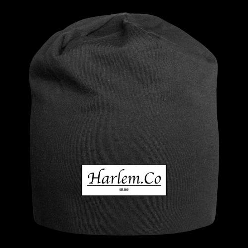 Harlem Co logo White and Black - Jersey Beanie