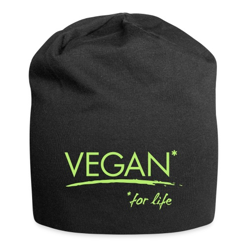 vegan for life 1c - Jersey-Beanie