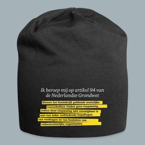 Nederlandse Grondwet T-Shirt - Artikel 94 - Jersey-Beanie