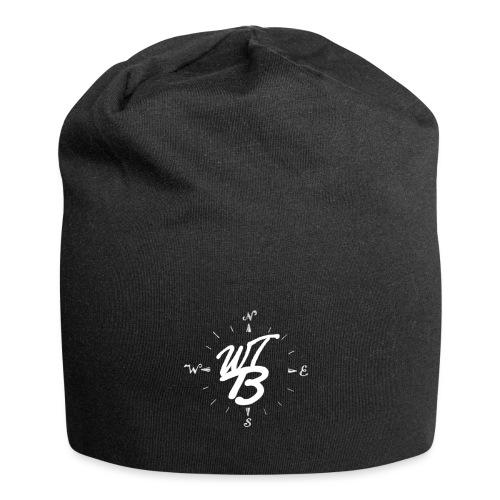 WT-BooST Cap mit weißem Logo - Jersey-Beanie