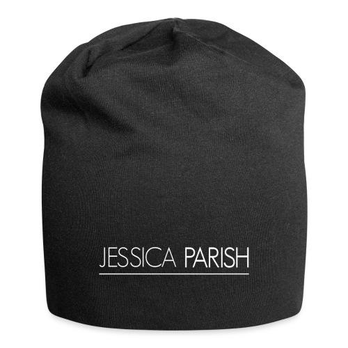 Jessica Parish Schriftzug weiß - Jersey-Beanie