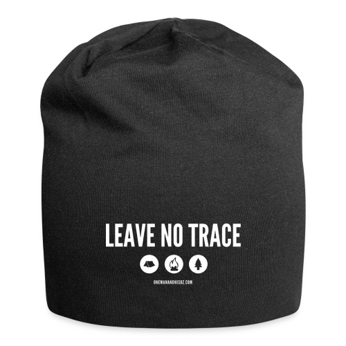 LEAVE NO TRACE Slogan - Jersey Beanie