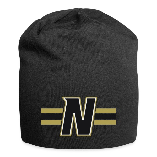 Nordic Steel Black N with stripes - Jersey Beanie