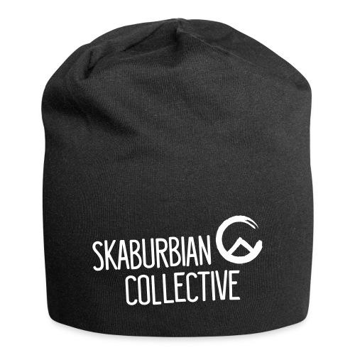 Skaburbian Logo White on Black - Jersey Beanie