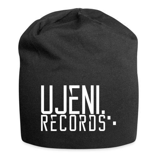 Ujeni Records Logo White - Jersey Beanie