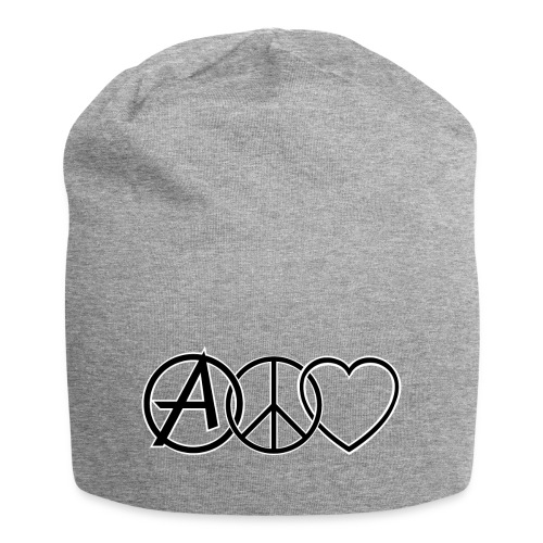 ANARCHY PEACE & LOVE - Jersey Beanie