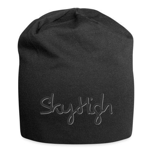SkyHigh - Men's Premium Hoodie - Black Lettering - Jersey Beanie
