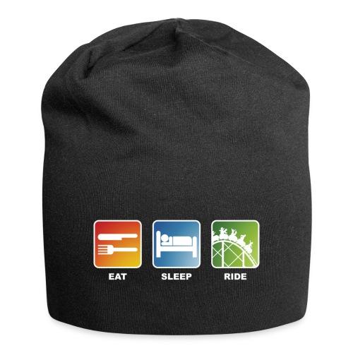 Eat, Sleep, Ride! - T-Shirt Schwarz - Jersey-Beanie