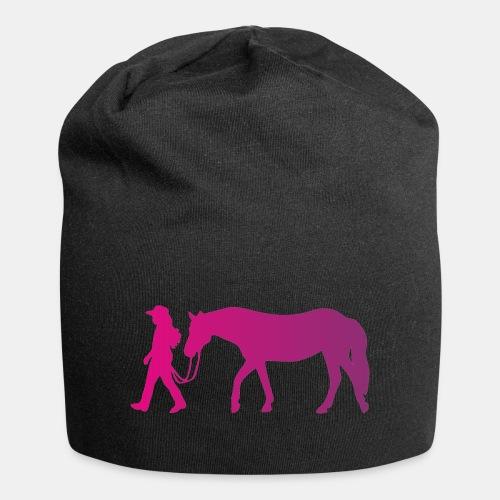 Mädchen führt Pferd, Horsemanship - Jersey-Beanie
