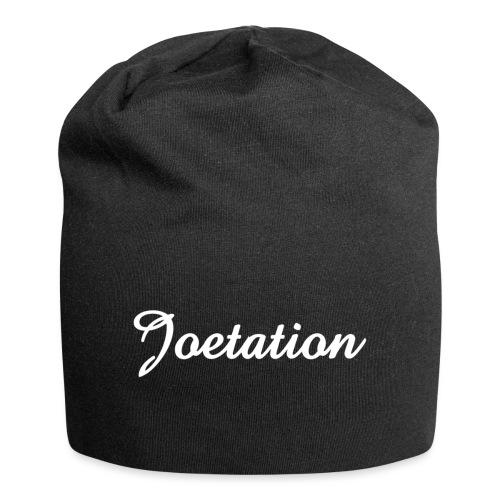 White Text Joetation Signature Brand - Jersey Beanie