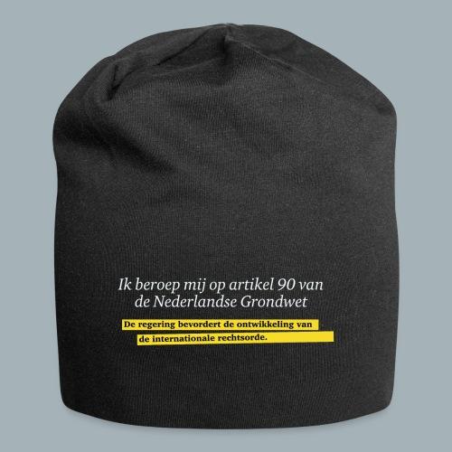 Nederlandse Grondwet T-Shirt - Artikel 90 - Jersey-Beanie
