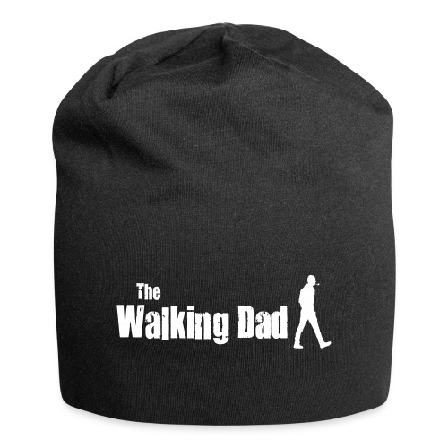 the walking dad white text on black - Jersey Beanie
