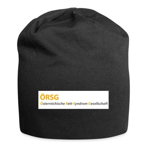 Text-Logo der ÖRSG - Rett Syndrom Österreich - Jersey-Beanie