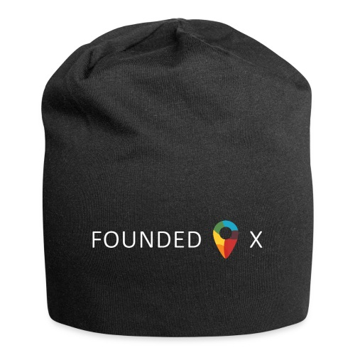 FoundedX logo white png - Jersey Beanie