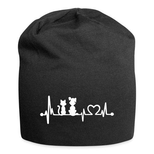 Vorschau: dog cat heartbeat - Jersey-Beanie