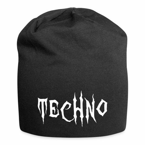 Techno Schriftzug Horror Böse Harder Styles - Jersey-Beanie