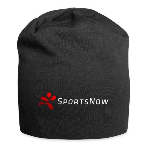 SportsNow-Logo mit weisser Schrift - Jersey-Beanie