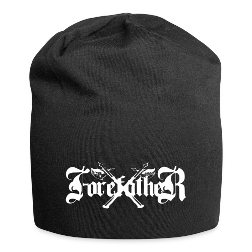 Forefather logo white - Jersey Beanie