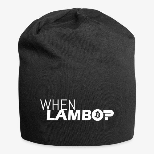 HODL-when lambo-w - Jersey Beanie
