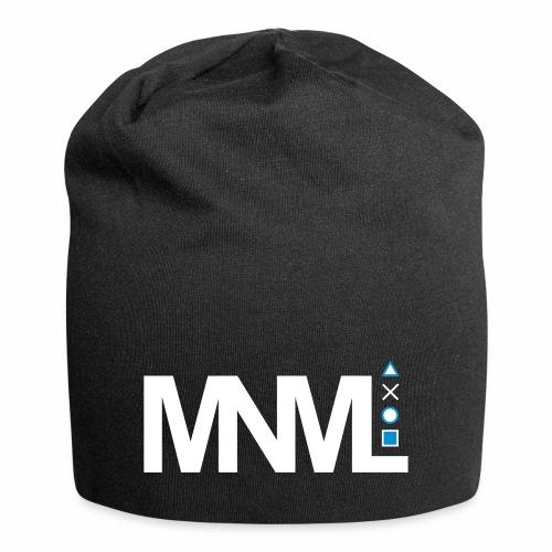 MNML Schrift Symbole Logo minimalistisch Text Icon - Jersey-Beanie