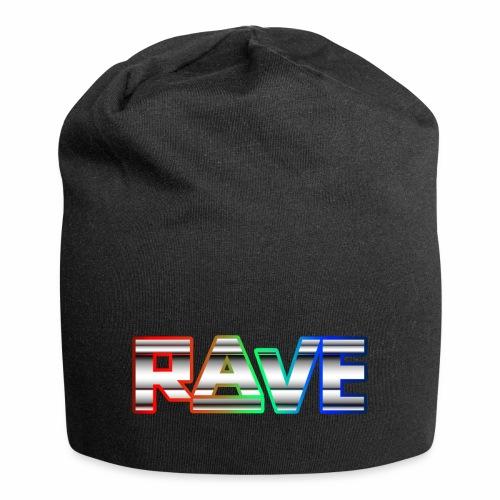 Rave Neon Rainbow Psy Text Techno Family - Jersey-Beanie