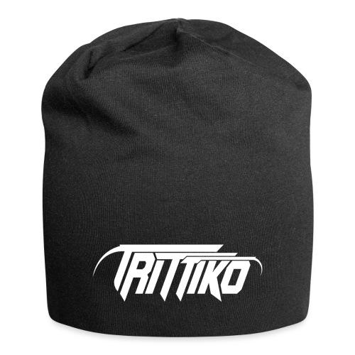 Trittiko Logo Weiss - Jersey-Beanie