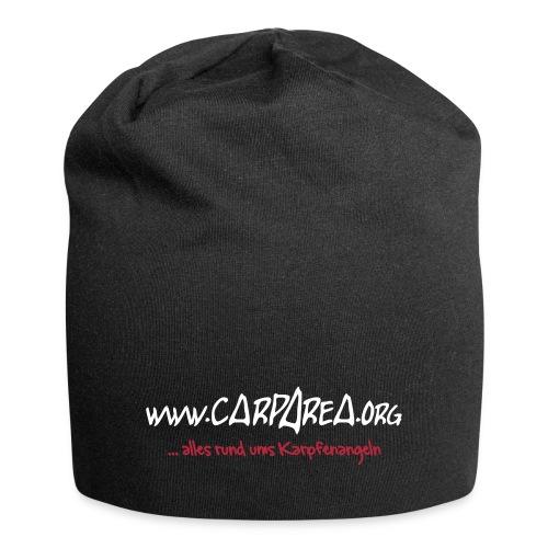carparea logo inkl text schwarz 120mmkur - Jersey-Beanie