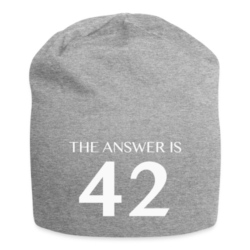 The Answer is 42 White - Jersey Beanie