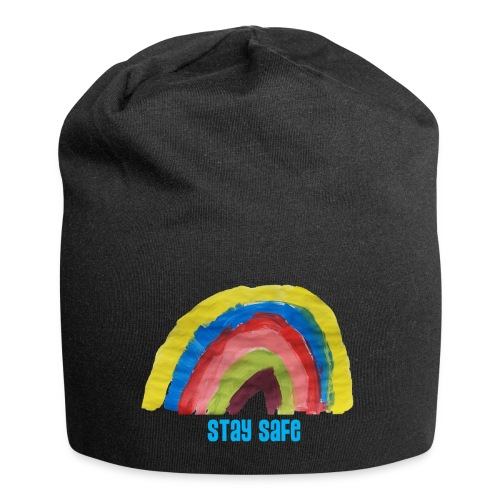 Stay Safe Rainbow Tshirt - Jersey Beanie
