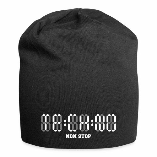 Techno Non Stop Digital Uhr - all night all day - Jersey-Beanie