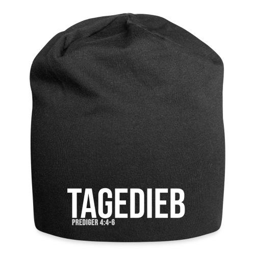 TAGEDIEB - Print in weiß - Jersey-Beanie