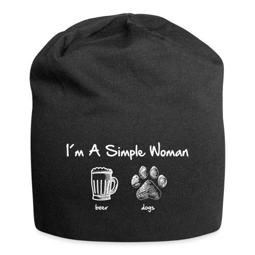 Vorschau: simple woman beer white - Jersey-Beanie