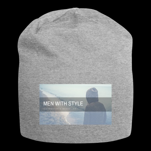 men with style - Gorro holgado de tela de jersey