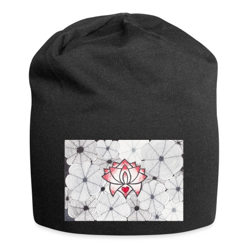 Lotus Heart - Beanie in jersey