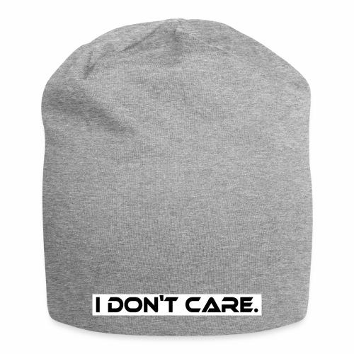 I DON T CARE Design, Ist mit egal, schlicht, cool - Jersey-Beanie
