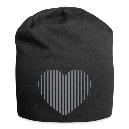 heart_striped.png - Jersey Beanie
