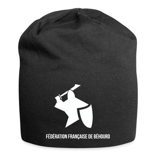 logo france behourd blanc png - Bonnet en jersey