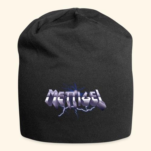 Mettigel T Shirt Design Heavy Metal Schriftzug - Jersey-Beanie