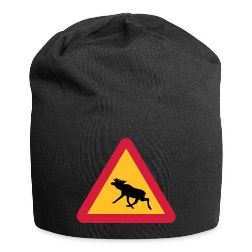 Warnung Elch! Älg! Moose! Schweden Sweden (vektor) - Jersey-Beanie