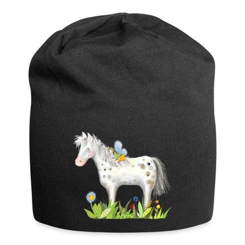 Fee. Das Pferd und die kleine Reiterin. - Jersey-Beanie