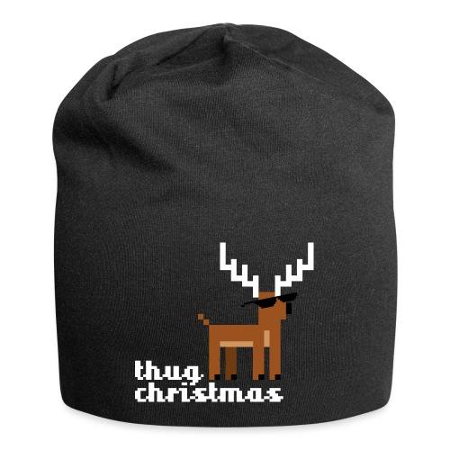 Christmas Xmas Deer Pixel Funny - Jersey Beanie