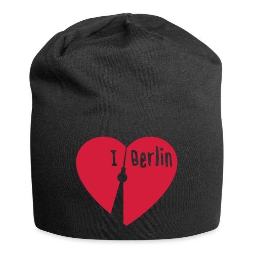 I love Berlin (1-farbig) - Jersey-Beanie