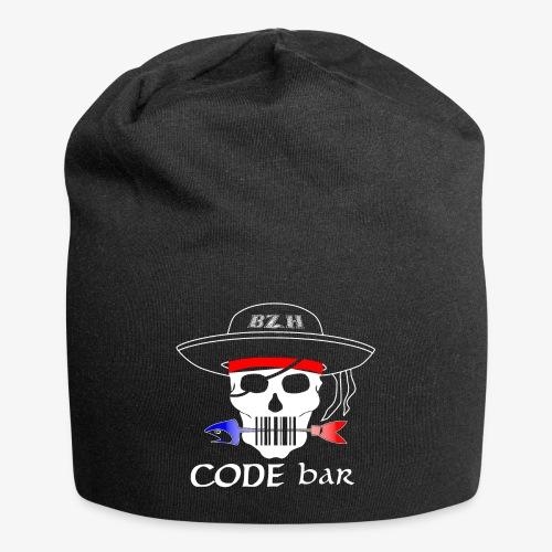 Code Bar white - Bonnet en jersey