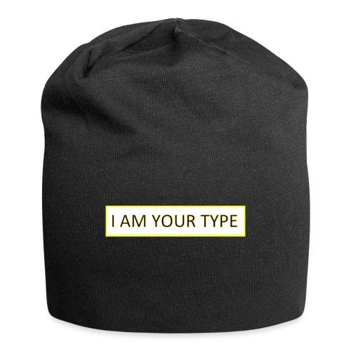 I AM YOUR TYPE - Gorro holgado de tela de jersey