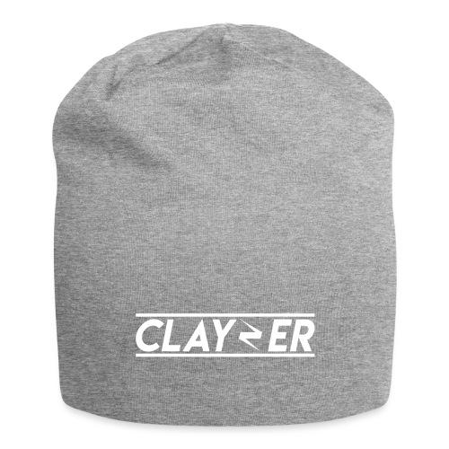 LOGO CLAYZER BLANC - Bonnet en jersey