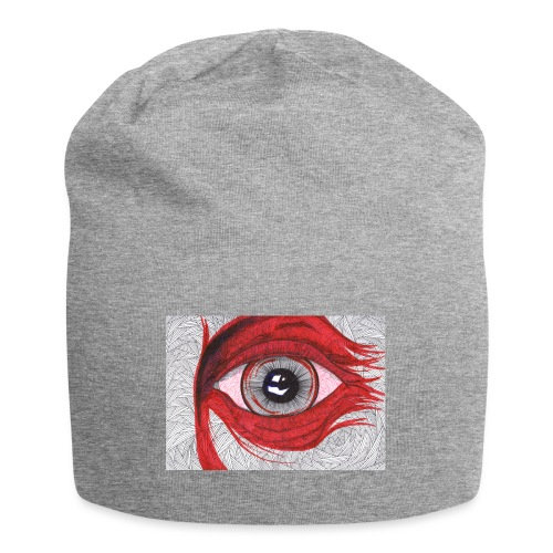 Auge - hypnotischer Blick - Jersey-Beanie