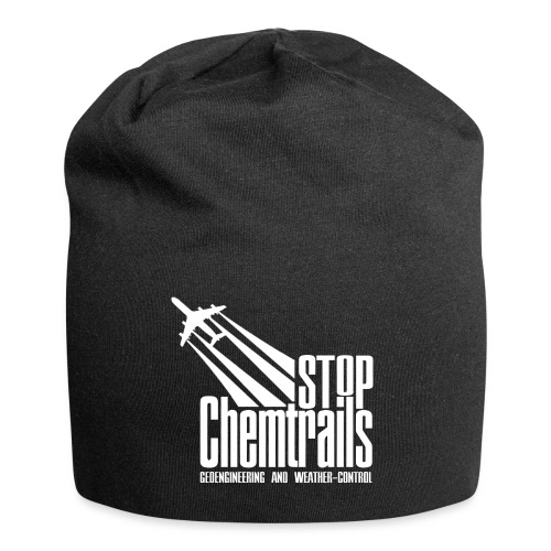 STOP CHEMTRAILS - white print - Jersey-Beanie