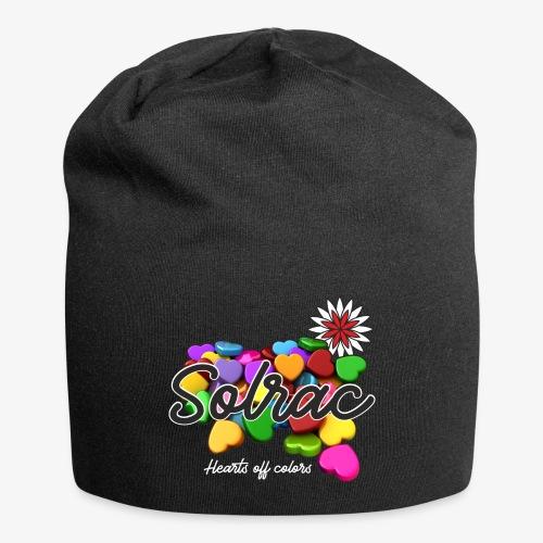 SOLRAC Hearts black - Gorro holgado de tela de jersey