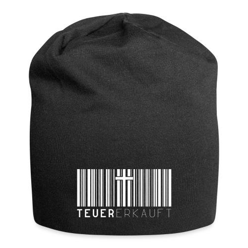 Teuer Erkauft Barcode Jesus Kreuz - Christlich - Jersey-Beanie