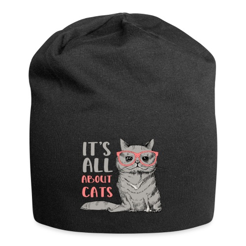 It's All About Cats: Cool Cat - Cat Lover - Jersey Beanie